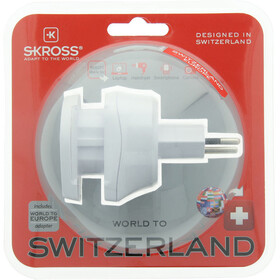 SKROSS Combo Steckeradapter World to Schweiz
